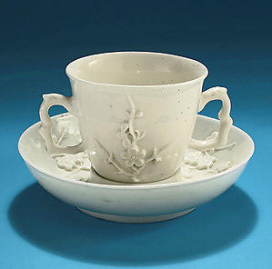 Bow Porcelain White Chocolate Cup England C1752
