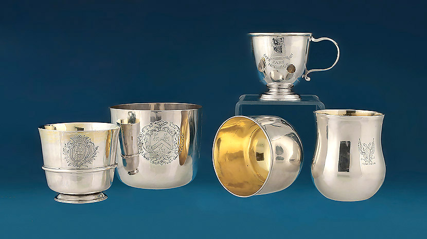 Early British Silver Tots & Tumblers