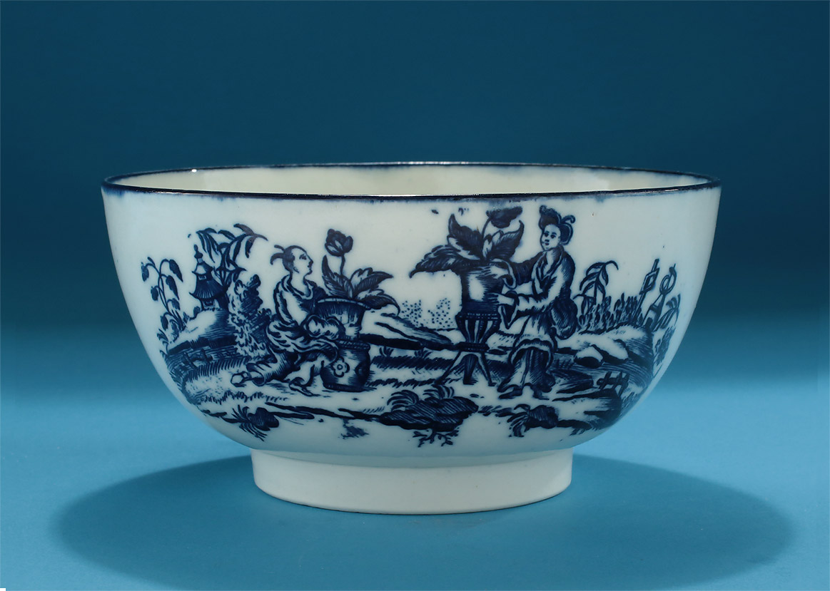 Rare Caughley Mother Amp Child Slop Bowl C1775 80 M Ford