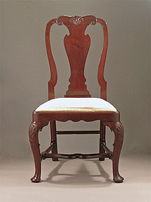 Queen Anne / George I Irish Cuban Mahogany Side Chair