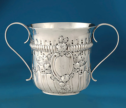 Early George III Silver Porringer, William Cripps