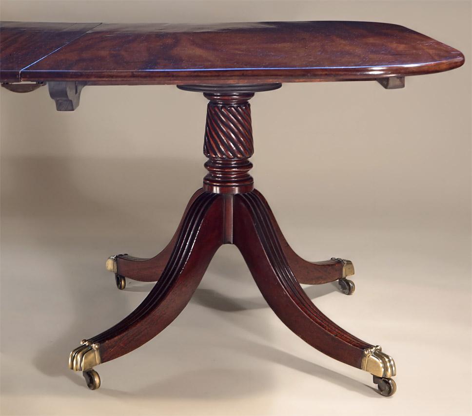 Fine mahogany dining tables - Fine George Iii Cuban Mahogany 2 Pedestal Dining Table Wythren Turned Pedestal
