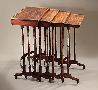 Fine_George_III_Nest_Rosewood_Mahogany_Quartetto_Tables