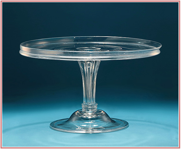 "GEORGE III GLASS TAZZA with MOULDED PEDESTAL STEM, 11.75"" Wide"