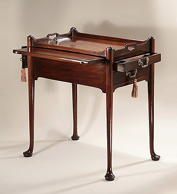 George II Cuban Mahogany Writing Table, England, c1760