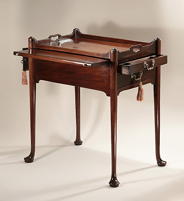 GEORGE II CUBAN MAHOGANY TRAY-TOP WRITING-TABLE, England, c1750