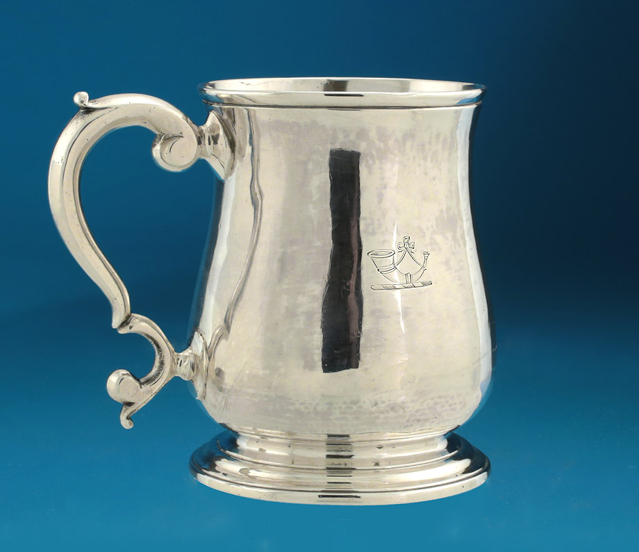 George II Silver Baluster Mug, Richard Bayley, London 1747, double crested