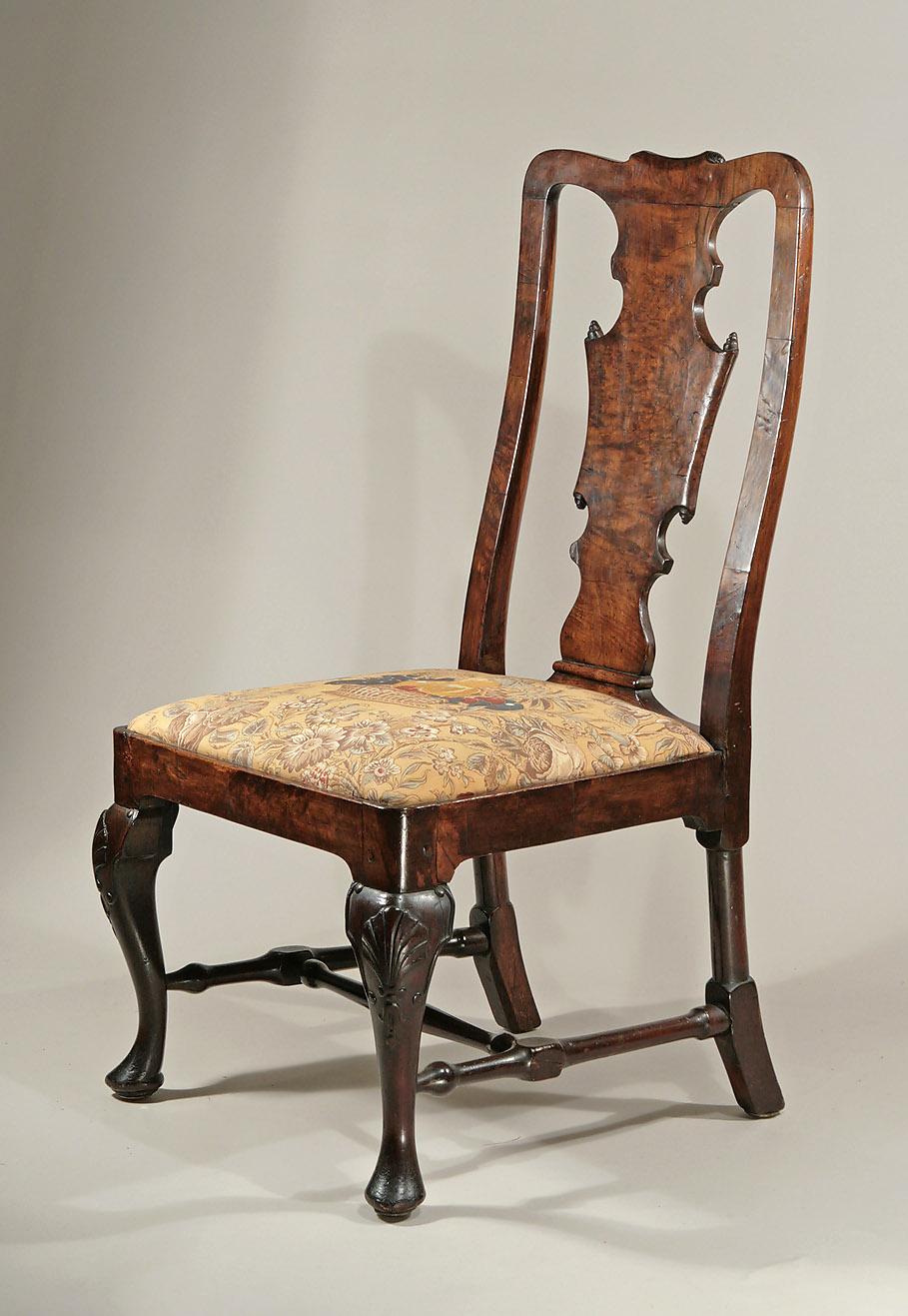 Marvelous Queen Anne / George I Walnut U0026 Burr Walnut Sidechair Of Generous  Proportions, C1715; M. Ford Creech Antiques U0026 Fine Arts, Memphis, TN