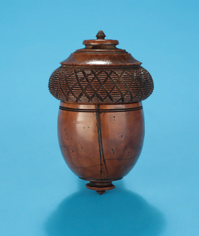 Georgian Carved Coquilla Nut Nutmeg Grater, Early 19th Century