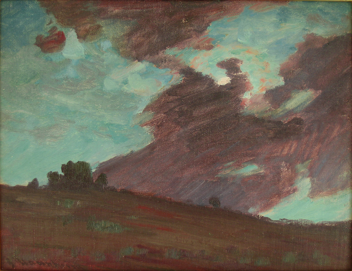 Jean Mannheim, California, Storm Clouds, Oil on Canvas