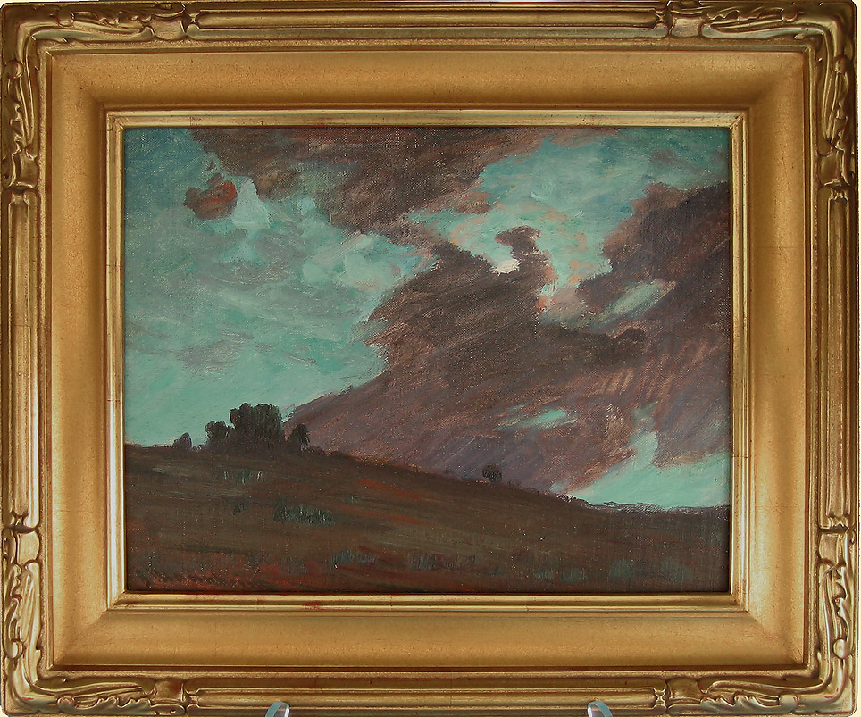 Jean Mannheim, Storm Clouds, Oil on Canvas, Framed