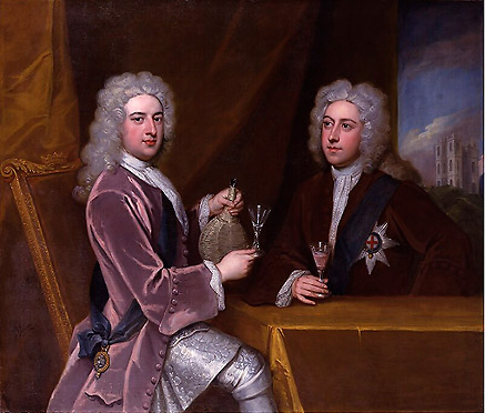Sir Godfrey Kneller, c1721, portrait of Kit Cat members (National Gallery, London),