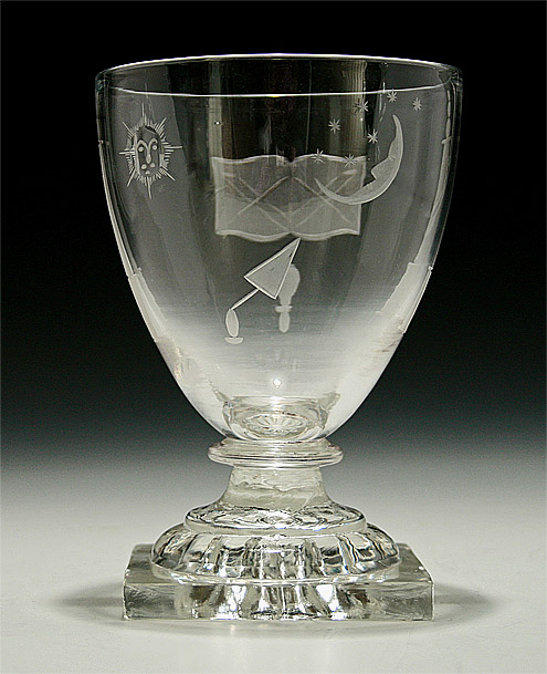 Masonic Interest Glass Rummer Possibly Anglo Irish 19th