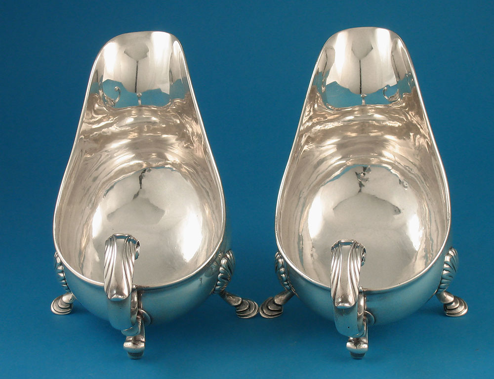 Pair Early George Iii Silver Sauce Boats William Grundy