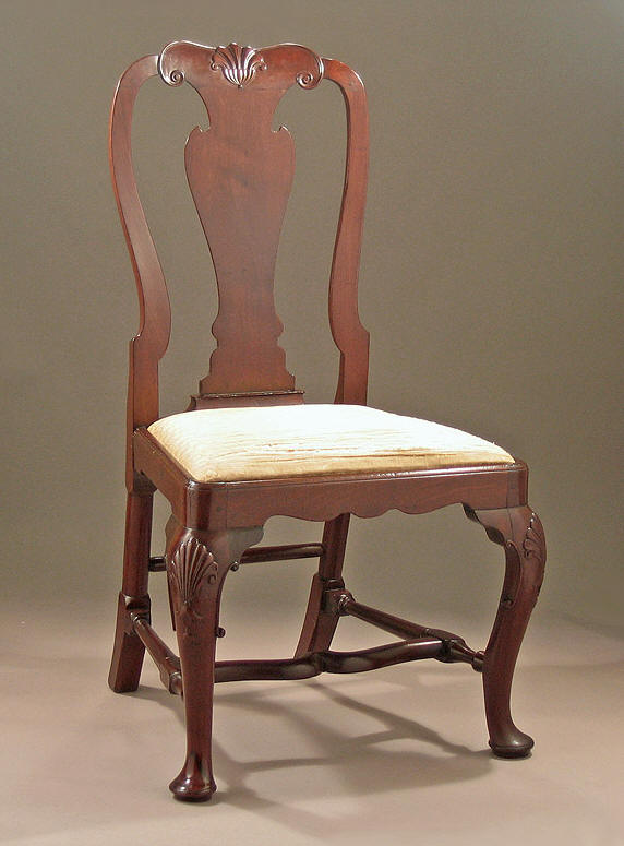 Queen Anne George I Cuban Mahogany Side Chair M Ford
