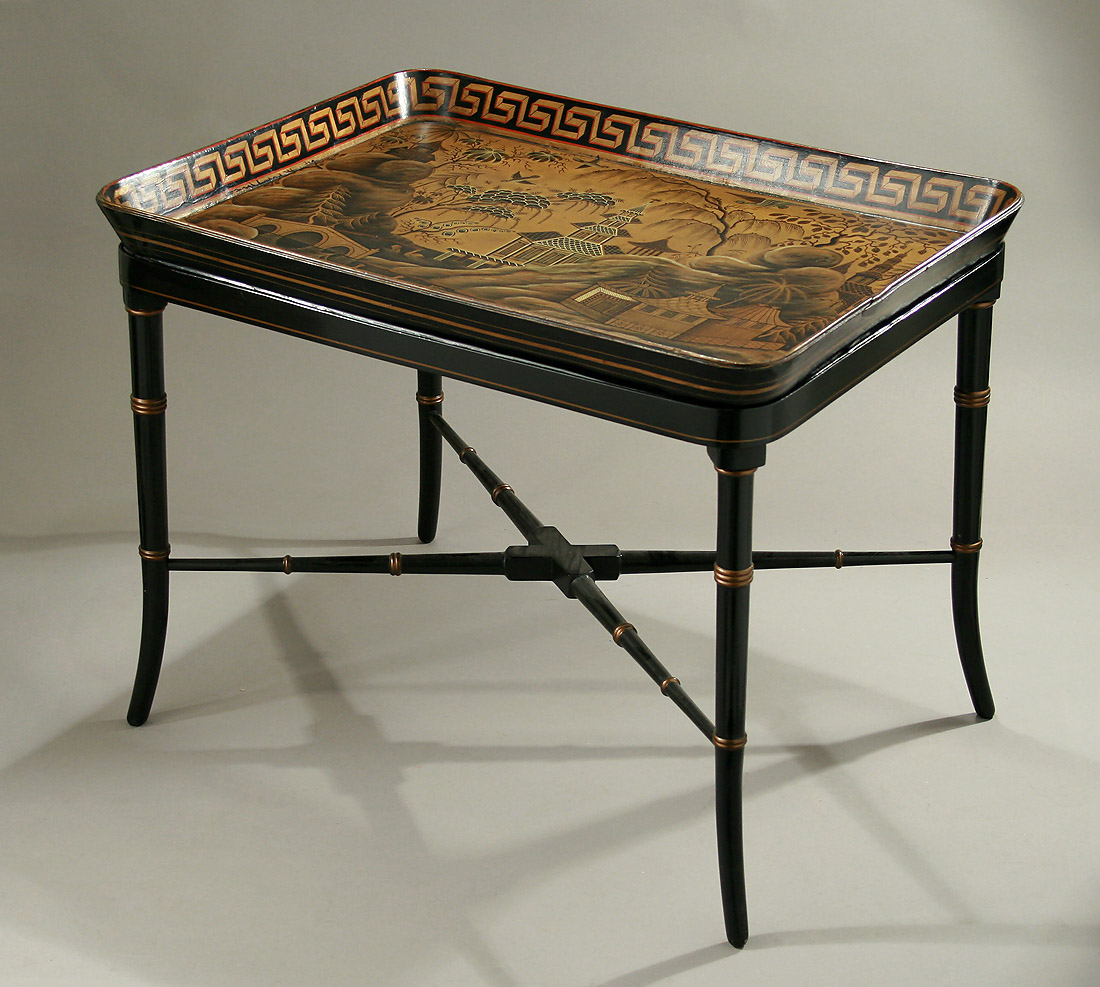 Regency Chinoiserie Amp Gilt Papier M 194 Ch 201 Tray On Stand In