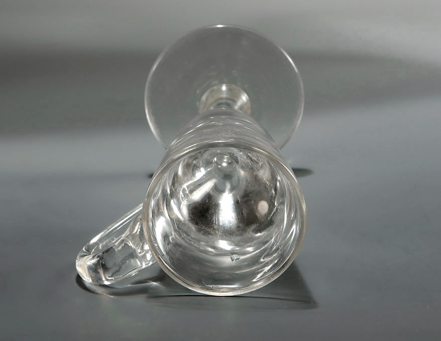 Unusual Georgian Deceptive Toastmaster's Glass, England, c1820, rim