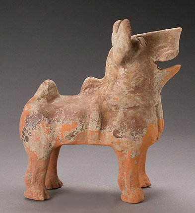 Han Dynasty Pottery Figure of a Dog, c206 BC -220 AD