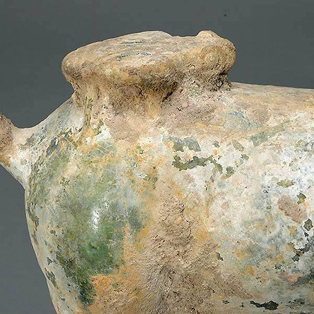 Han Dynasty Green Glazed Pottery Figure of a Horse
